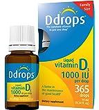 Ddrops - 液体维生素D3 365 下降 1000 IU - 0.34盎司