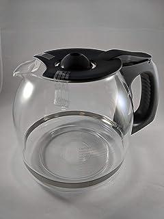兼容 Kenmore 88915 12 杯咖啡壶玻璃瓶 (OEM) (黑色把手和盖子)