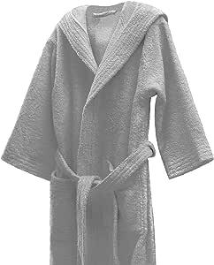 Lasa 儿童浴袍,* 棉,银色,尺码12