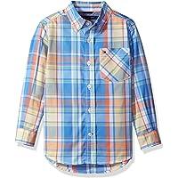 TOMMY HILFIGER 男孩格子梭织长袖衬衫