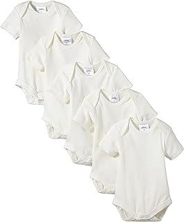 TWINS 婴儿中性款有机棉短袖连体衣,5个装