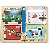 Melissa & Doug 门锁和门闩游戏板 木制益智玩具