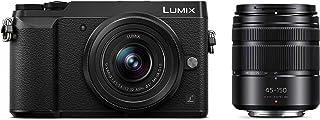 Panasonic 无镜像可互换镜头相机套件,12-32 毫米镜头,16 万像素,双图像稳定-2DMC-GX85WK 摄像头 + 12-32mm + 45-150mm 黑色