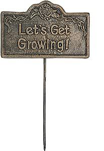Garden Marker Lets Get Growing 古铜色