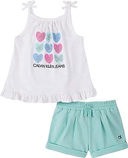 Calvin Klein 3I80073-99 女童版短袖套装