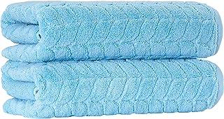 Bagno Milano 提花豪华土耳其毛巾,* 土耳其棉,速干超柔软,吸水毛绒毛巾,土耳其制造 天蓝色 2 pcs Bath Towel Set