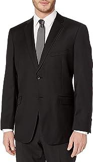 Adolfo 男式羊毛和羊绒时尚修身西装外套