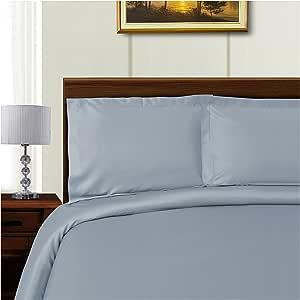 Superior TP600FQDC SLBL 600 织物*棉花混纺被套套装 蓝色 King/California King TP600KCDC SLBL