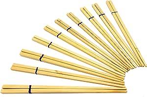 Eco Creation 优质木制筷子(10 双)可重复使用的筷子包,适用于您的日语、中国语、韩语、泰国语食谱洗碗巾,市场上*轻的散装包装。 Great House 加热礼物 米色