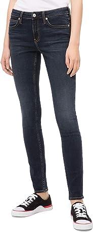 Calvin Klein 女式印 CKJ 001中腰超紧身牛仔裤