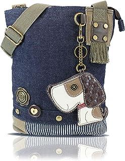 chala patch 斜跨女式手提包帆布斜挎包