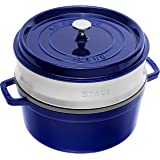 STAUB 琺寶 蒸鍋 圓形26厘米深藍色