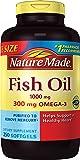 Nature Made 鱼油 1000毫克,Omega-3 300毫克 250粒软胶囊(包装可能会有所不同)
