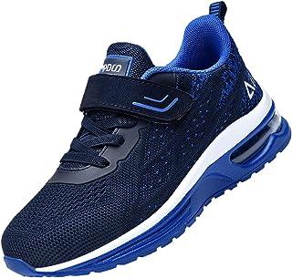 RomenSi 儿童运动鞋轻质透气透气跑步网球鞋适合男孩女孩
