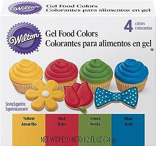Wilton Primary Icing Colors,4 片装 - 凝胶糖霜颜色