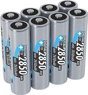 ANSMANN AA 2850 mAh 数字可充电电池,5035092-590-1,高性能和容量5035092-590 2850mAh AA 2 PACKS