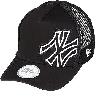 NEW ERA 9FORTY D-Frame Trucker Battalion 纽约洋基队 黑色 × 白色 帽子
