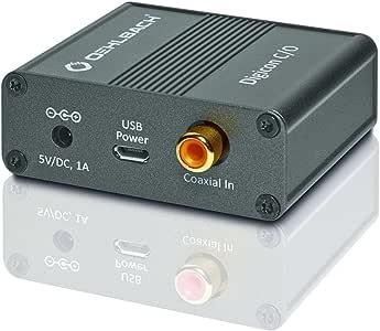 Oehlbach Digicon C/O - 数字同轴光学音频转换器(同轴在光学音频信号的转换) - 金属棕色