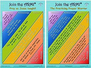 练习祈祷勇士,ARMI 祈祷模型 - 一套 2 张 30.48 厘米 x 45.72 厘米海报,带 5 张口袋卡