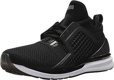 PUMA 男士 Ignite Limitless 编织运动鞋 黑色 7.5