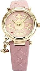 [维维安·韦斯特伍德]Vivienne Westwood 腕表 ORB 粉色表盘 粉色皮革表带 石英表 VV006PKPK 女款 【平行进口商品】