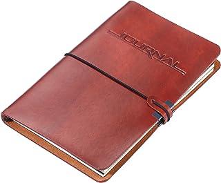 TROIKA BULLET JOURNAL – BTJ36/BR – 2 个笔记本 DIN A5 人造皮革封面 – 日记本 – 每本:36 个穿孔页,FSC 认证的纸张,点网格 – 可填充 TROIKA 原装