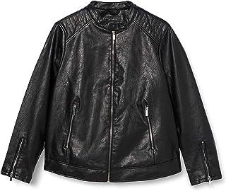 Dorothy Perkins Curve 女士曲线黑色 PU 无领夹克人造革夹克