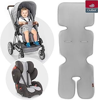 reer reer TravelKid Breeze 透气座椅垫,适用于婴儿车、婴儿车、汽车座椅、自行车座椅和Coco,灰色