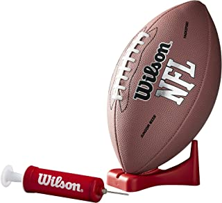 Wilson WTF1414PT NFL MVP 初级橄榄球 w/泵和 T 恤