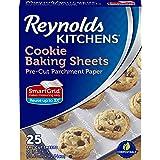 Reynolds Kitchens 不粘烘焙羊皮纸 - 30.48 x 40.64 厘米 4 Pack (25 Sheets) 1.00