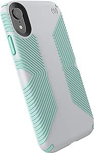 Speck Products 兼容手机壳适用于 Apple AP-1004,Presidio Grip 手机壳 Dolphin Grey/Aloe Green