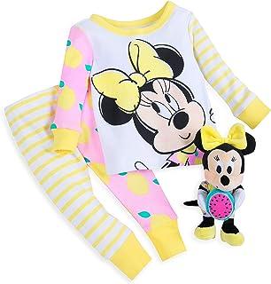 Disney 米妮老鼠 PJ PALS 和毛绒摇铃套装,婴儿多色可选 多种颜色 0-3 MO