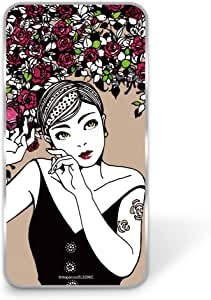 majocco 壳 透明 硬质 印刷 玫瑰和短款WN-LC827954 9_ FREETEL SAMURAI REI 麗 FTJ161B バラとショートカットB