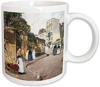 3dRose Rue Montmartre by Childe Hassam Ceramic Mug, 11-Ounce