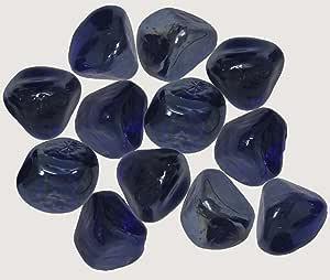 独特玻璃宝石适用于花瓶填料、桌子散布或其他美丽点缀 2.2 磅 钴蓝色 2.2 Pounds 43216-117070