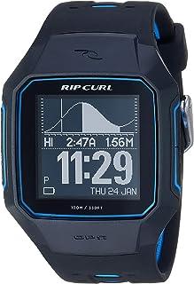 "Rip Curl 男式""SearchGPS""石英塑料和聚氨酯運動手表,顏色:黑色(型號:A1144-BLU"