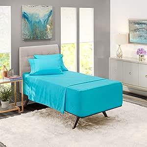 Nestl Bedding 6 件套超深口袋床单 – 超深床单适合 45.72 至 60.96 厘米床垫 – 酒店超深床单 沙滩蓝 两个 XL