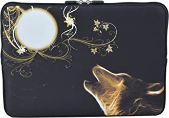 MySleeveDesign 14 Inch Notebook Sleeve Laptop Neoprene Soft Case Pouch Bag 14 / 14.1 Inch - SEVERAL DESIGNS & SIZES Available - New Moon 14