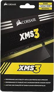 Corsair CMX4GX3M1A1600C11 XMS3 4GB (1x4GB) DDR3 1600 MHZ (PC3 12800) 台式机内存 1.5V
