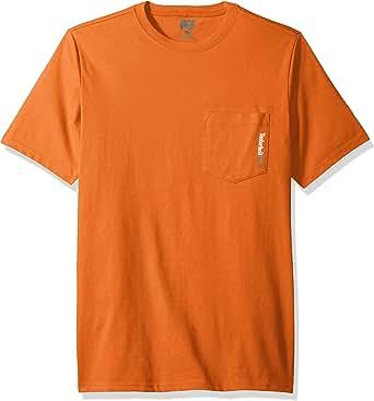 Timberland 添柏岚 PRO 男式基础板混纺短袖 T 恤 焦橙色 Medium