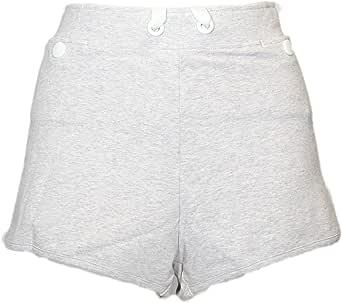 ASICS 女士工作室针织短裤灰色紫色短裤 XS 码(美国码 4-6)X 2