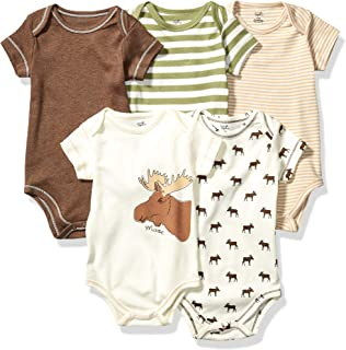 Touched by Nature 中性婴儿*棉连体衣  Moose 5-pack 9-12 Months