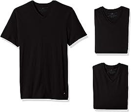 Tommy Hilfiger 汤米·希尔费格 男士短袖V领带图案T恤
