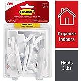 Command Utility Hooks Mega Pack, Medium, White, 20-Hooks (17001-MPES)