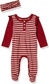 7 For All Mankind 女婴连脚服 Pattern Ruby Red Stripe 0-3 Months