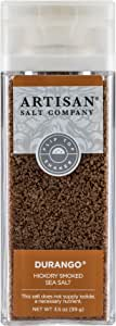 SaltWorks Durango Hickory Smoked Sea Salt, Artisan Shaker Jar, 3.5 Ounce
