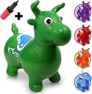 WALIKI Toys 弹跳马 Benny 跳跃斗牛(充气动物跳跃、跳马、骑马儿童、包括泵) 绿色