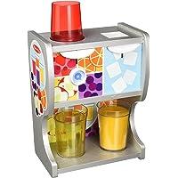 Melissa & Doug 19300 Thirst Quencher 木质饮料分配器,带杯/果汁衬垫/冰块玩具组合,多色