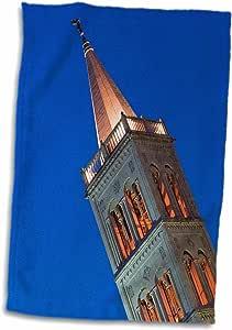 3D Rose Croatia-Zadar-St. Anastasia-Tower-Eu32 Wbi0493-Walter Bibikow 手巾/运动毛巾,15 x 22