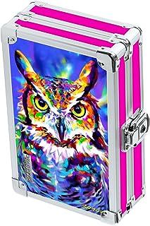 "Vaultz Locking 3D Supply Box, 5""x2.5""x8.5"", Owl (VZ03670)"